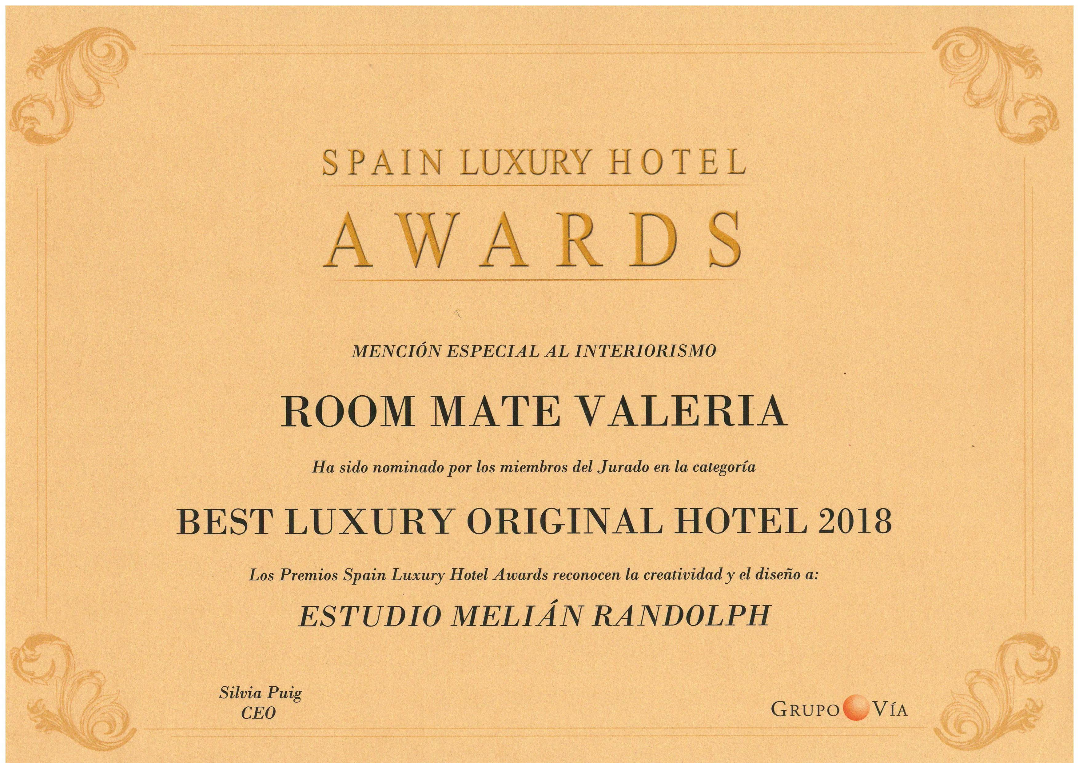 SPAIN LUXURY HOTEL AWARDS